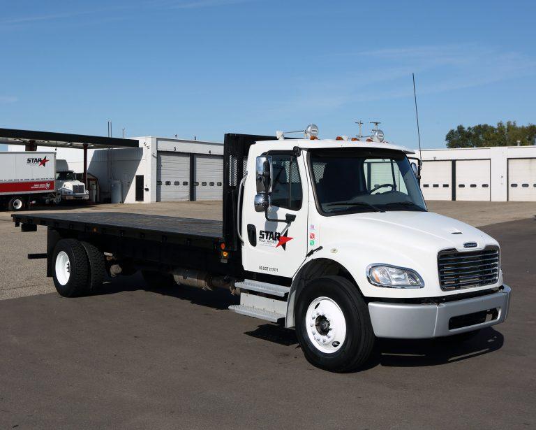 Single and Tandem Axle Flatbed Trucks